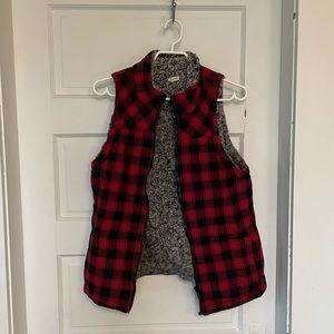 Reversible Plaid vest